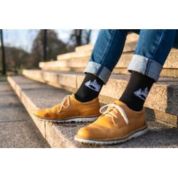Ponožky divočák v lese-...