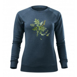 Lesní kytice- mikina- dámská