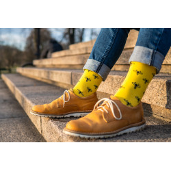 Ponožky Včeličky žluté-...