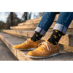 Ponožky včeličky černé-...
